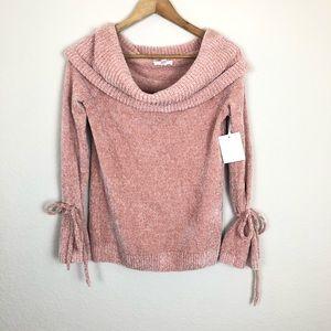 NWT Lauren Conrad Pink Knit Sweater